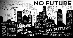No Future - blink-182 [LYRIC VIDEO]